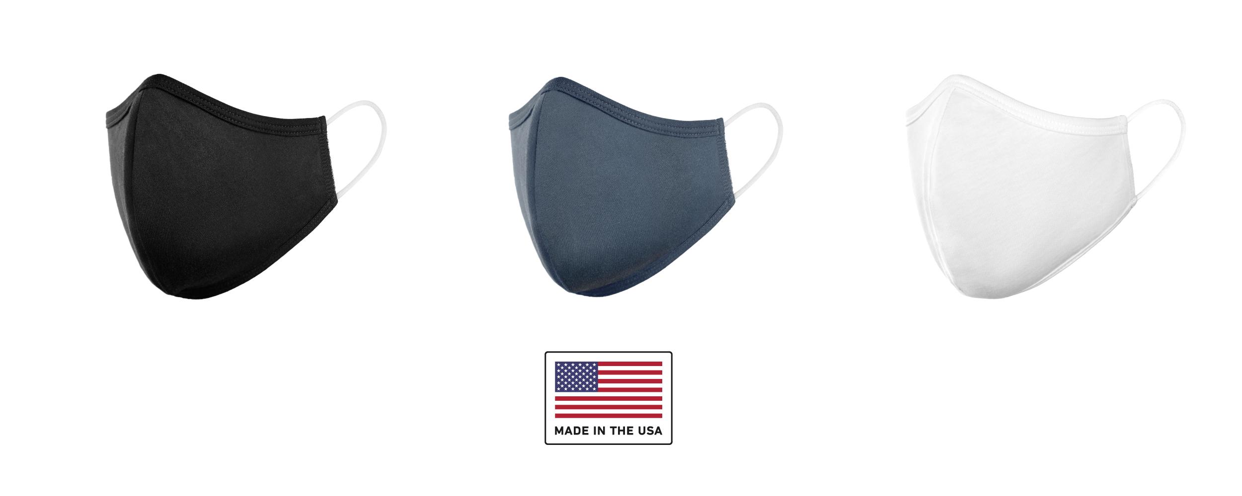 Washable Cloth Face Mask Black Navy White Kid Adult Sizes