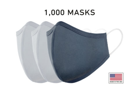 Washable Reusable Cloth Face Mask USA Made Navy Fabric 1000 Count