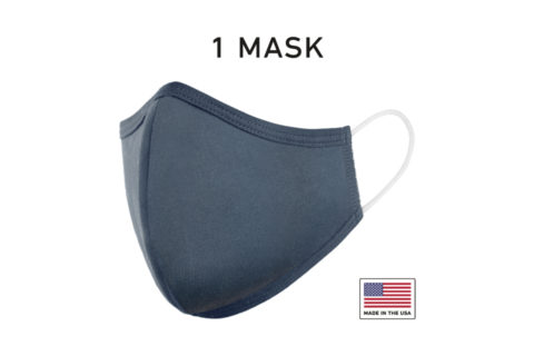 Washable Reusable Cloth Face Mask USA Made Navy Fabric Single
