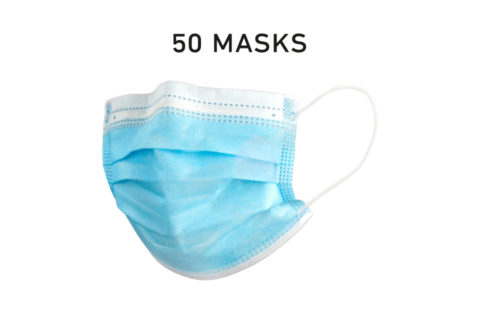 Disposable 3 Layer Kids Mask Single Use Box of 50