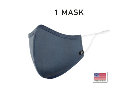 Washable Reusable Cloth Face Mask USA Made Navy Fabric 1 Mask