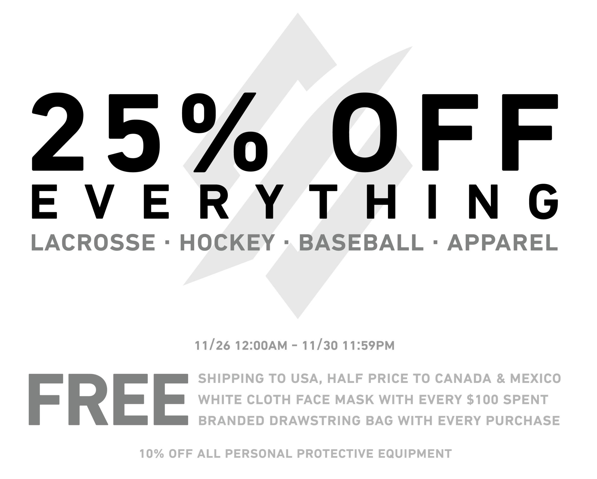 StringKing Black Friday Discounts Deals Freebies Lacrosse Hockey Baseball Apparel Information